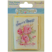 Trimcraft Forget-Me-Not Clear Stamp, Seed Packet