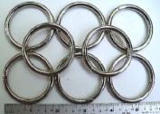 Steel Rings Welded Nickel Plate O-Ring -3.8cm ID - 25 Pcs
