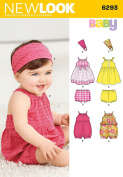 Simplicity Creative Patterns New Look 6292 Babies' Romper, Dress, Panties and Headband, A