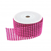 Diamond Sparkling Rhinestone Mesh Ribbon Roll for Arts & Crafts, Event Decorations, Wedding Cake, Birthdays, Baby Shower, 3.8cm x 3 Yards, 8 Row, 1 Roll by Super Z Outlet®
