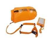 Speed Hound Swim Buoy - Open Water Swim Buoy Flotation Device With Dry Bag and Waterproof Cell Phone Case for Swimmers, Triathletes, and Snorkelers. Floats for Safer Swims