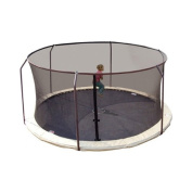 Replacement Trampoline Safety Net Fits For Round Frames Using Curved Pole With Top Ring Enclosure Systems