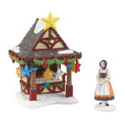 Alpine Village from Department 56 Christmas Market, Tree Topper Booth Accesssory