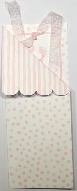 Bookmark Design Girls Birth Announcement