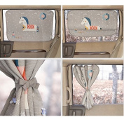 Car Sun Shade Curtain for Side Window baby kids children - Sunshade Protector - Protect kids pets from sun glare heat. Car Interior Design Sun Blocker Blind