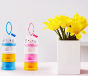 BW Formula Baby Milk Powder Dispenser Non-Spill Snack Storage Container BPA Free Pink
