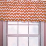 Chevron Window Valance, Colour: Orange, Window Width