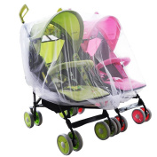 Aligle Twin stroller nets Baby Mosquito Mesh Tandem Strollers Double and Car Seats
