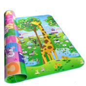 MaBoShi Double-side Extra Large Baby Crawling Stitching Mat Bear And Giraffe Pattern,79*71*0.2〃 L*W*H