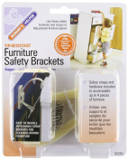 Mommys Helper Tip Resistant Furniture Safety Brackets - 3 Packs Of 8 Count = 24 Count