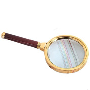 YIXIN Classic Handheld Reading Magnifier Magnifying Glass Lens 10x for Father Mother Elder