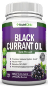 Black Currant Oil - 1000 Mg - 180 Softgels - Cold-Pressed Pure Black Currant Seed Oil - Hexane Free - 140mg GLA Per Serving - Regulates Hormonal Balance - Great For Immune System, Hair, Skin and Heart