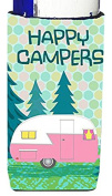 Caroline's Treasures Happy Campers Glamping Trailer Michelob Ultra Koozies for Slim Cans, Multicolor