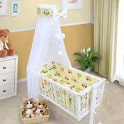 BABY BEDDING SET CRIB CRADLE 10 Pieces PILLOW DUVET COVER BUMPER CANOPY to fit Crib 90x40cm 100% COTTON