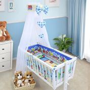 BABY BEDDING SET CRIB CRADLE 10 Pieces PILLOW DUVET COVER BUMPER CANOPY to fit Crib 90x40cm 100% COTTON