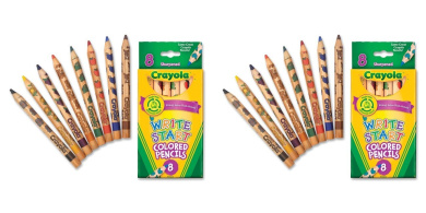 Crayola Write Start Coloured Pencils,8 Pack, 2 Packs