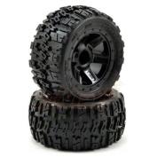 Pro-Line Pre-Mounted Trencher 5.6cm Tyre Wheels Black 1:16 E-Revo #1194-11 /item# G4W8B-48Q34241