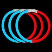 Fun Central B23 20cm Glow in the Dark Bracelets - Blue-Red - 50pcs