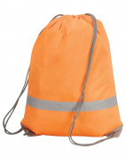 New Shugon Stafford Drawstring Tote Bag Water Resistant Reflective Strip Bags