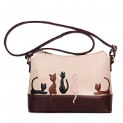 Win8Fong Women's Contrast Colour Leisure Animal Pattern Shoulder CrossBody Bags