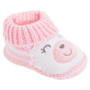 Baby Girls 100% Cotton Slip-On Teddy Bear Booties