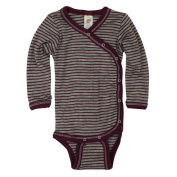 Baby Button-down Bodysuit longsleave, Organic Virgin Wool and Silk