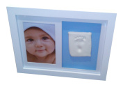Baby Casting Kit White Wall Hung Frame for handprint or footprint