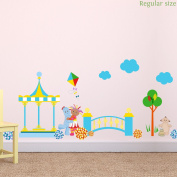 In the Night Garden bridge scene wall sticker pack (Regular size with characters) | Official In the Night Garden wall sticker
