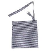 Baby Mum Breastfeeding Nursing Poncho Cover Up Udder Covers Blanket Shawl - Stripe Black