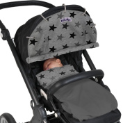 Dooky Pram Shade - Grey Star