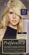 THREE PACKS of L'Oreal Infinia Preference 10.1 Helsinki Very Light Ash Blonde
