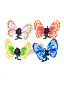 4 Pack Mini Butterfly Hair Clamps Bright Colour Hair Accessories
