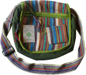 FAIR TRADE COTTON GHERI BEACH TRAVEL HIPPY BOHO FESTIVAL SHOULDER BAG & PURSE