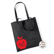 BEST TEACHER APPLE 100% Cotton Tote Bag Gift Present End Of Term Teacher Gift