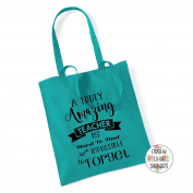 A Truly Amazing Teacher Is Hard To Find & Impossible To Forget 100% Cotton Tote Bag Gift Present End Of Term Teacher Gift
