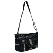 Banned Green Tartan Handbag black-blue-green