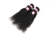 YanT HAIR 7A Grade Malaysian Virgin Hair Kinky Curly Human Hair Extensions 4 Bundles 14 16 18 50cm Natural Black Colour Pack of 4