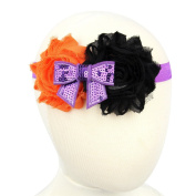 Halloween Baby Flower Bow Headband Girl Children Kids Hair Accessories Cute Infant Toddler Elastic Headwear