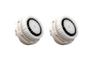 MITE Premium Clarisonic Compatible Sensitive Facial Cleansing Replacement Brush Heads with Caps for Delicate Skin Fits Mia, Mia 2 & 3 and All Other Models 2 Pack
