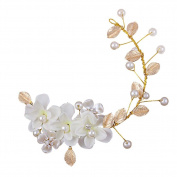 Korea Style Hand Made White Flower Wedding Head Decoration Hair Beauty