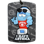 Allermates Kids I Have Asthma Kids Dog Tag with Chain
