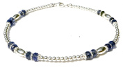 Damali Silver Gemstone Anklet Faceted Blue Kyanite - December