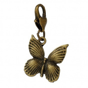 Ladies / 22056 / Charm Trailer For Bracelet bronze Butterfly 32x17mm