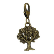 Ladies / 22054 / Charm Trailer For Bracelet bronze Tree 35,5x16,5mm