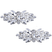 Santfe Fashion Rhinestone Crystal Shoe Clips Charm Shoe Decoration Buckle Accessories