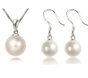 4 Piece Set Jewellery Cultured Pearls 925 Sterling Silver