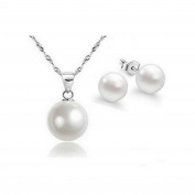 4 Piece Set Jewellery Mother of Pearl 925 Sterling Silver