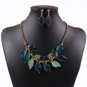 HongHu Gold Plated Women Jewellery Branch Leaf Pendant Necklace for Party