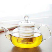Siyaglass Glass Teapot With Infuser Coffee Heat Resistant Tea Pot Leaf Herbal Clear 800ml