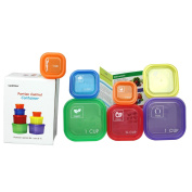7 PIECE PORTION CONTROL CONTAINER SET - Portion control containers for weight loss - Portion control kit for diet meal preparation - Simple colour-coded no-measuring system for healthy living- GAINWELL